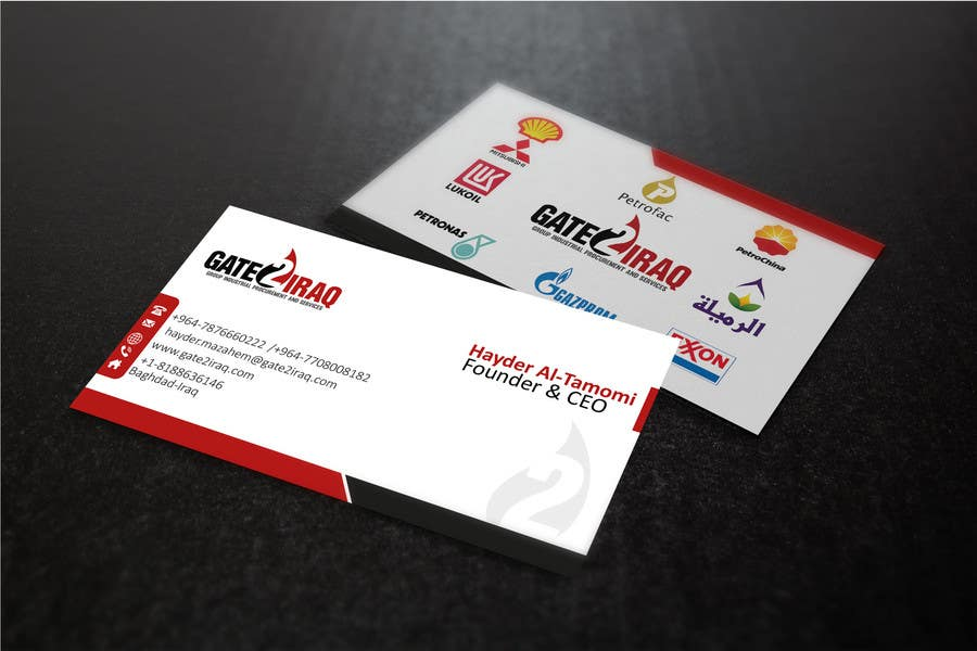 Bài tham dự cuộc thi #28 cho Design some Business Cards for Gate2Iraq Group