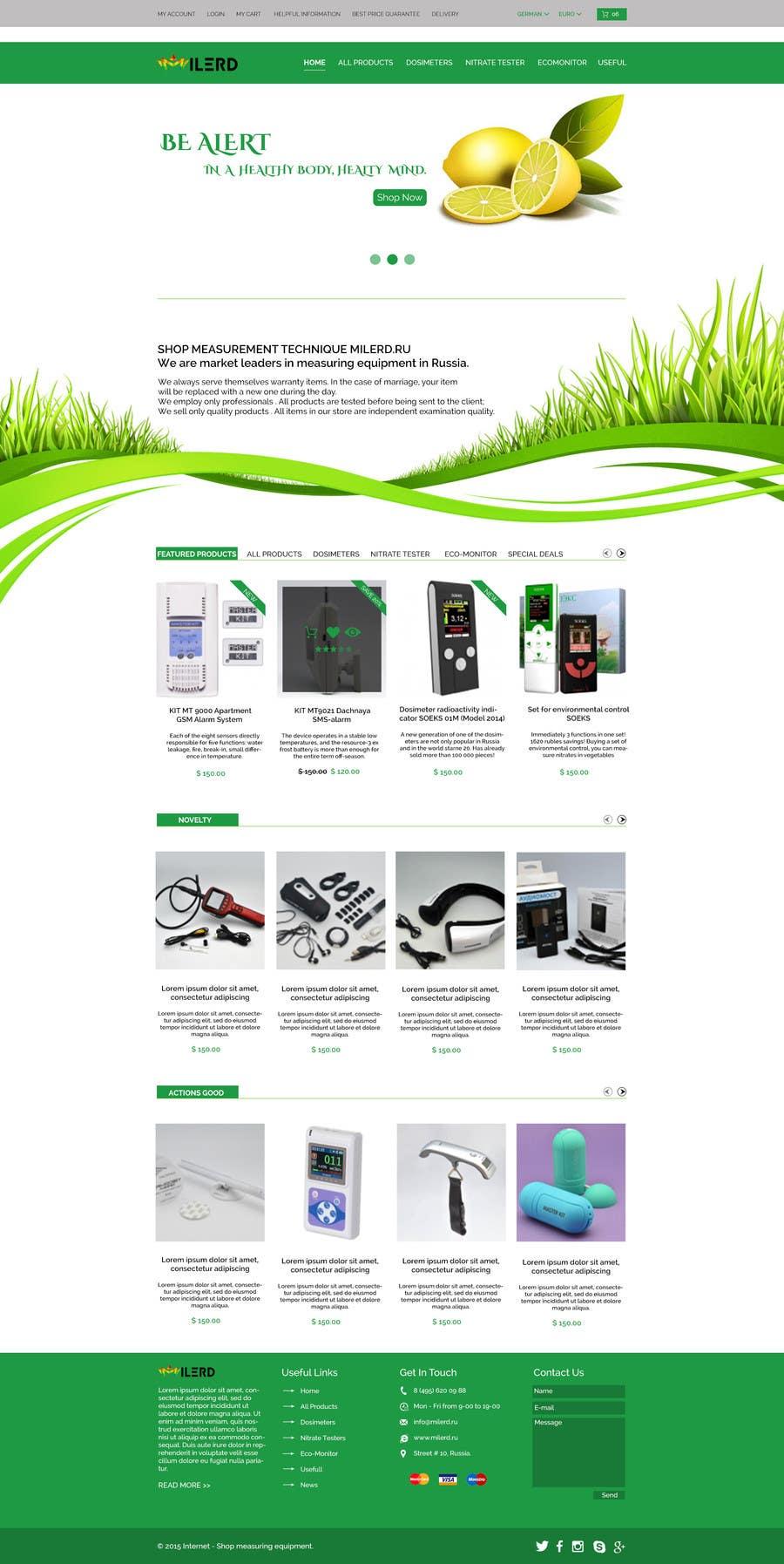 Proposition n°5 du concours Design a Website Mockup for premium German electronics brand