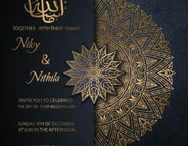 #52 cho Design a Wedding Invitiation Card bởi jesminakter2020