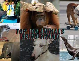 Nro 126 kilpailuun Create a Youtube thumbnail photo ----- for a youtube video (Top 100 Animals being smart) käyttäjältä DonnaChloe