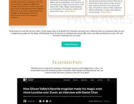 #58 for Website redesign - https://www.danchanmagic.com/virtualmagicshows.html af abiyyurifqi44