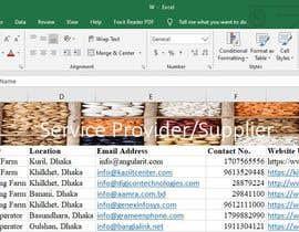 FuyadAfzal tarafından Create a list of supplier/ service providers için no 61