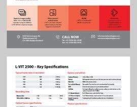 Nro 107 kilpailuun New leaflet/datasheet/brochure design for our products käyttäjältä onecameraman