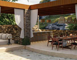 #51 for Landscape Design around an existing pool with Dinning, BBQ , shower and Lounge areas af luc4s3d