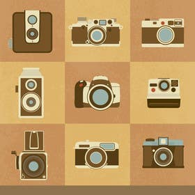 #9 for Seamless Doodle Style Pattern (Photography Related) by squirrel1811