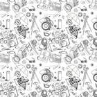 Graphic Design Konkurrenceindlæg #5 for Seamless Doodle Style Pattern (Photography Related)