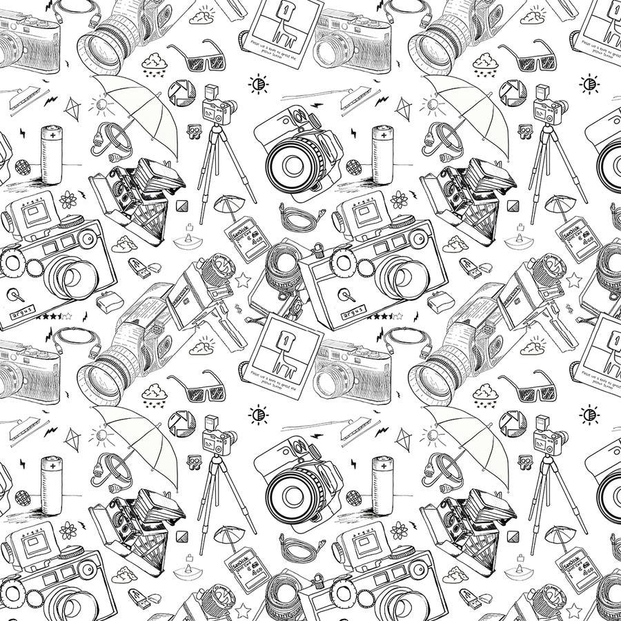 Contest Entry #                                        5                                      for                                         Seamless Doodle Style Pattern (Photography Related)