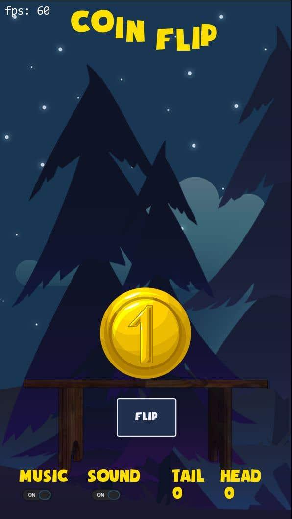 Penyertaan Peraduan #                                        9                                      untuk                                         Make me a cool coin flipping app for Android