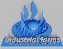 #44 cho CAD Design/ model up logo of Industrial Forms suitable for 3d Printing bởi Pespis