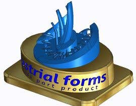 #39 cho CAD Design/ model up logo of Industrial Forms suitable for 3d Printing bởi SundaramRamGuru