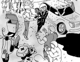 Nileshkrlayek tarafından Black and White Comic Illustration için no 6