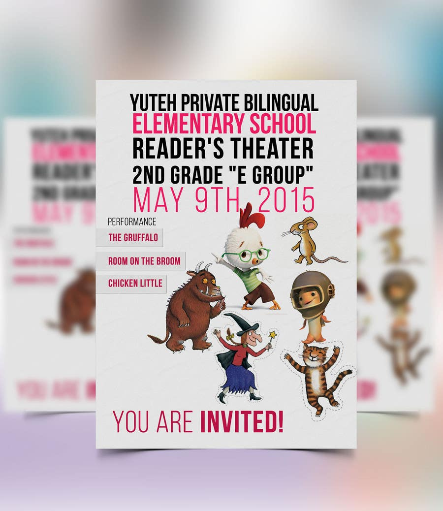Contest Entry #                                        1                                      for                                         school Reader's Theater invitation