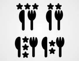 #10 untuk Design some Icons for 2-3 star knife and fork oleh NikWB