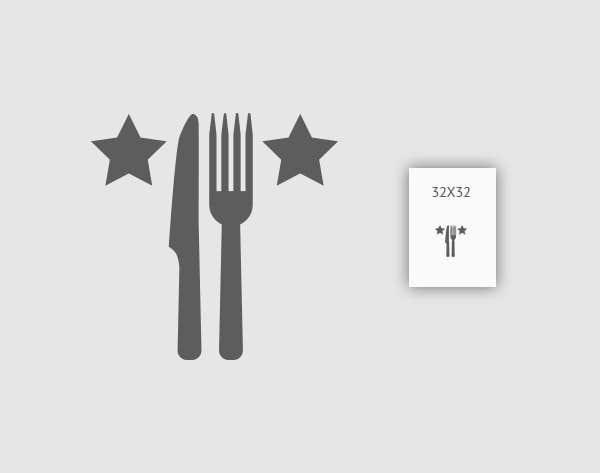 Inscrição nº 18 do Concurso para Design some Icons for 2-3 star knife and fork
