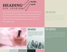 #20 สำหรับ Color palette, heading, subheading and body text font and 5 instagram templates in Canva โดย MDJillur
