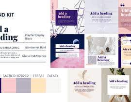 #11 สำหรับ Color palette, heading, subheading and body text font and 5 instagram templates in Canva โดย Irinamoraru94