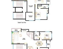 #46 untuk Redesign the architectural drawing of a duplex flat oleh sreedhiman