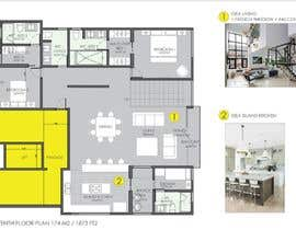 #45 untuk Redesign the architectural drawing of a duplex flat oleh camidiaz