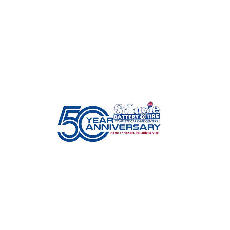 Konkurrenceindlæg #                                        45                                      for                                         please design a logo for a 50th anniversary  for the company.  Outline Do not alter current logo or colors Need horizontal and vertical options, preferably vertical Keep with current color theme.