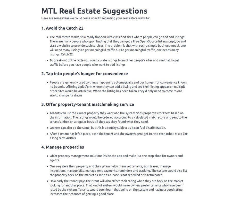 Kilpailutyö #                                        55                                      kilpailussa                                         MTL Real Estate