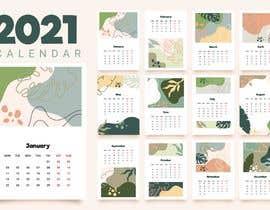 Nro 203 kilpailuun A4 format calendar 2021 käyttäjältä hossainahmed360