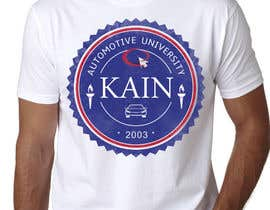 #35 untuk Design for a t-shirt for Kain University using our current logo in a distressed look oleh prodigitalart
