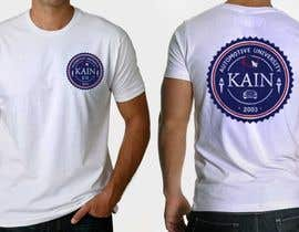 #23 para Design for a t-shirt for Kain University using our current logo in a distressed look de aaguandotcom