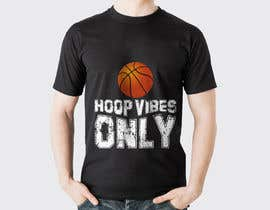#60 cho I would like to Change words to HOOP VIBES ONLY in the same font pattern it is already. Remove the skull and flowers and add a basketball where the skull is over the letters.. i would like it in black and white for sure.. bởi rayhanshawkat199