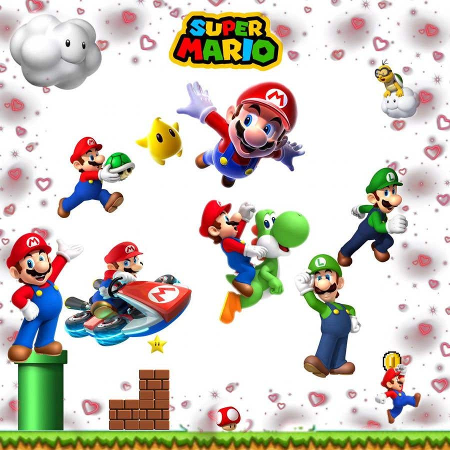 Penyertaan Peraduan #                                        2                                      untuk                                         Build a wall design for my house - Mario bross as an example