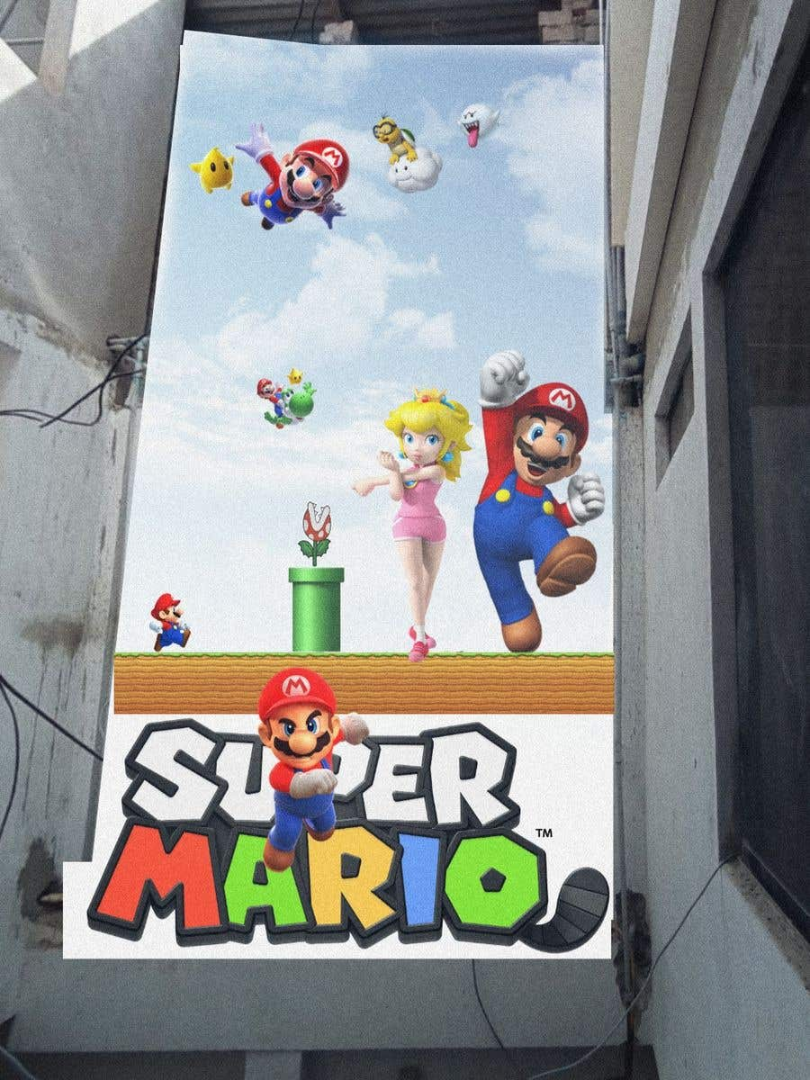 Penyertaan Peraduan #                                        18                                      untuk                                         Build a wall design for my house - Mario bross as an example