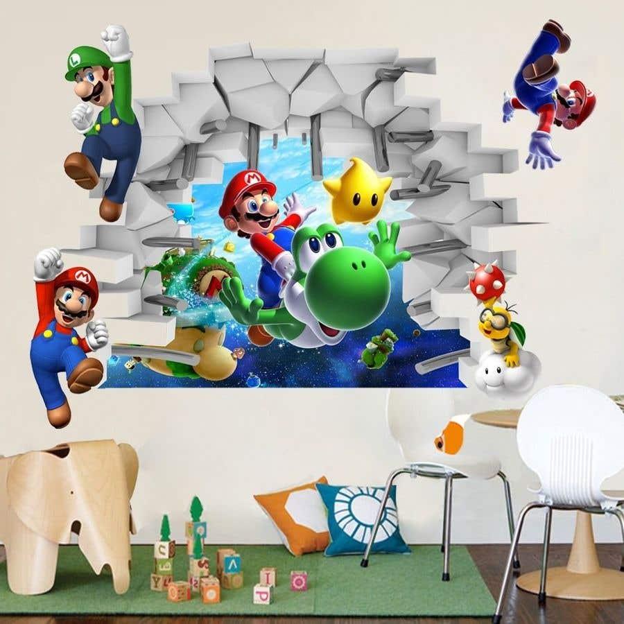 Penyertaan Peraduan #                                        9                                      untuk                                         Build a wall design for my house - Mario bross as an example