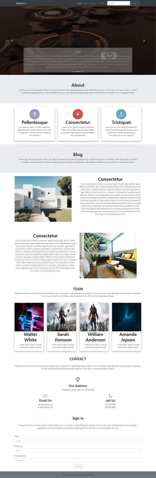 Proposition n°                                        8                                      du concours                                         Build a One page website