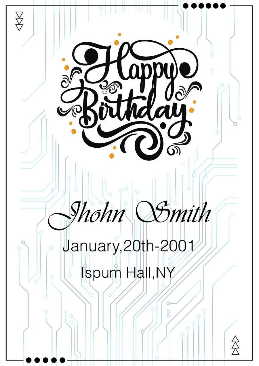 Konkurrenceindlæg #                                        25                                      for                                         Birthday Card design