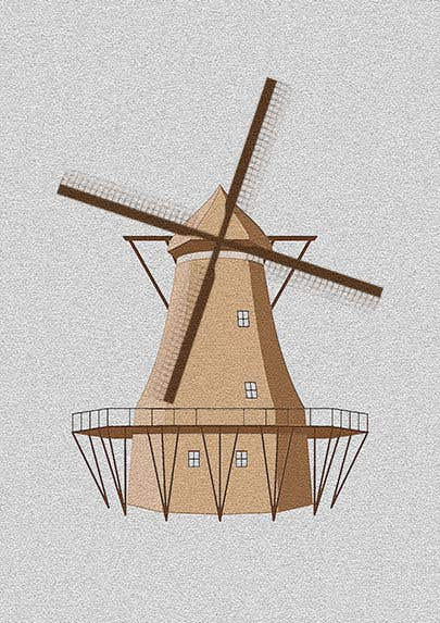 Bài tham dự cuộc thi #                                        19                                      cho                                         Illustrate and Animate Original Old-Fashioned Windmill