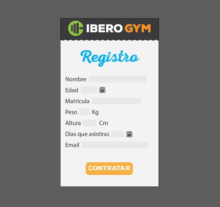 Inscrição nº 48 do Concurso para Design an App Mockup for a Gym