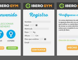 #51 para Design an App Mockup for a Gym por jakuart