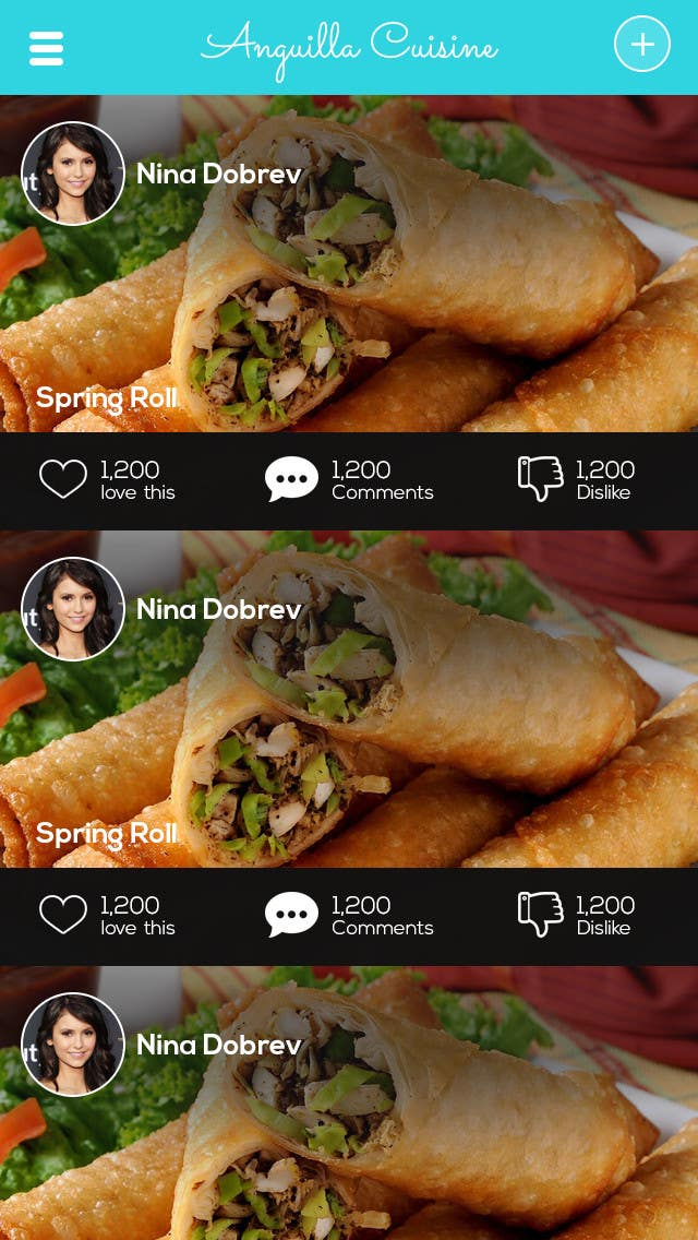 Contest Entry #                                        3                                      for                                         Anguilla Cuisine App UI Mockup