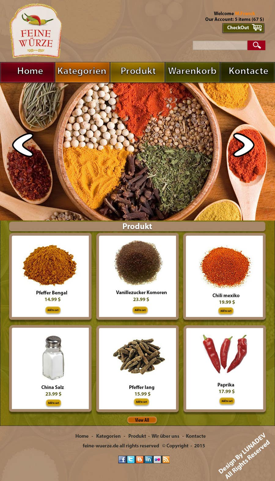 Contest Entry #                                        7                                      for                                         Design for a completely new online shop, selling spices -- 2