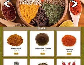 #7 for Design for a completely new online shop, selling spices -- 2 by lunadevcorp