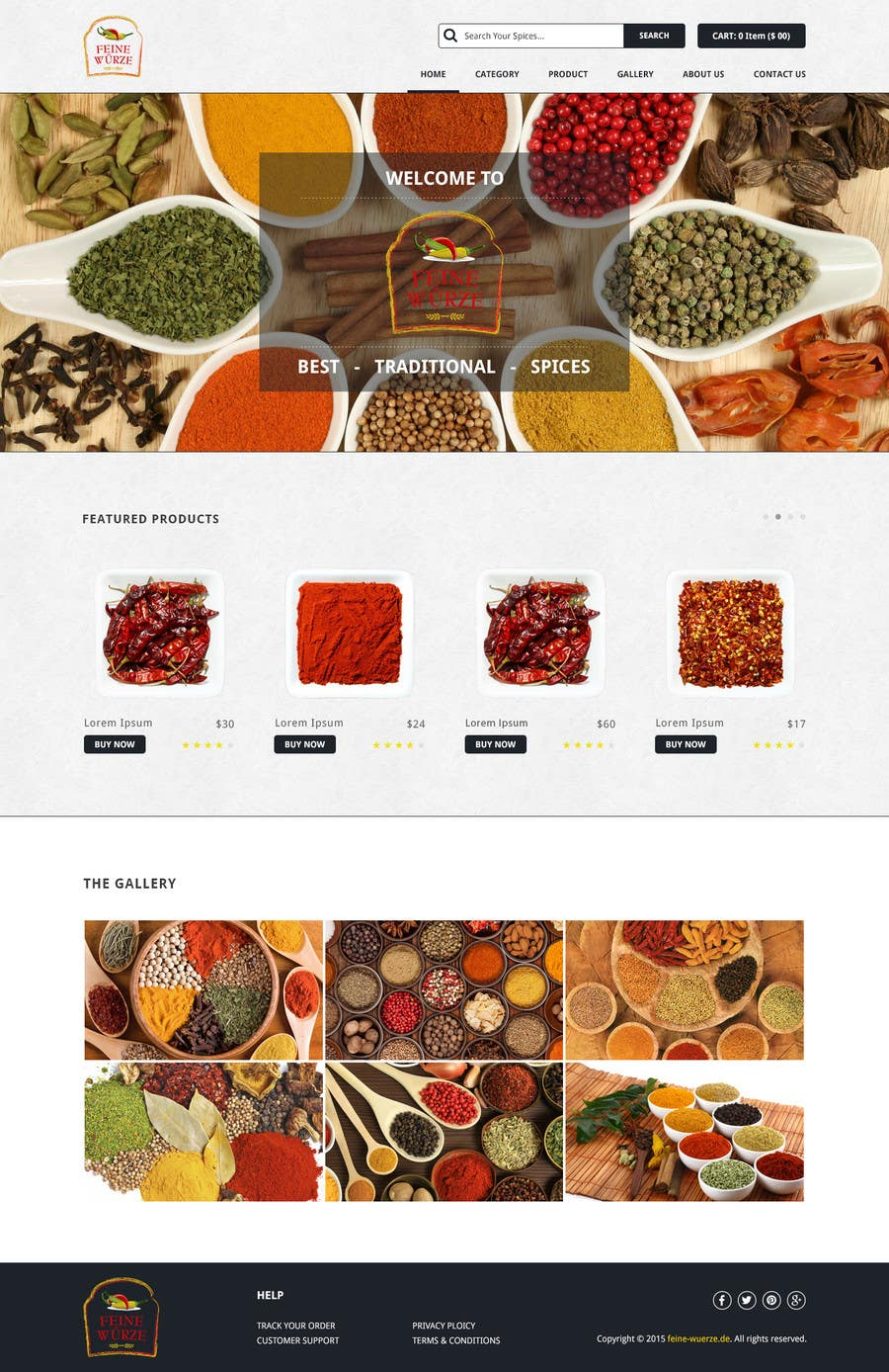 Contest Entry #                                        8                                      for                                         Design for a completely new online shop, selling spices -- 2