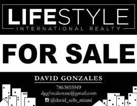 #45 untuk David Gonzalez - For Sale Sign oleh Swymuh