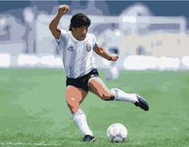 #9 for Diego maradona graffiti canvas art by mdkaiyum7798
