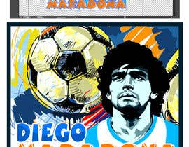 #19 for Diego maradona graffiti canvas art by mohinofficial