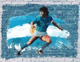 #62 for Diego maradona graffiti canvas art by NaeemGFX01