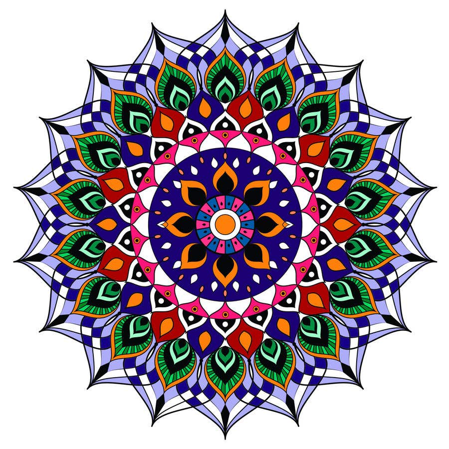 Penyertaan Peraduan #                                        10                                      untuk                                         I need the below mandalas colored interior, and lines if needed. All 15.  if the job is good i will provide more work for youq