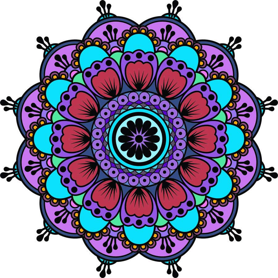 Penyertaan Peraduan #                                        8                                      untuk                                         I need the below mandalas colored interior, and lines if needed. All 15.  if the job is good i will provide more work for youq
