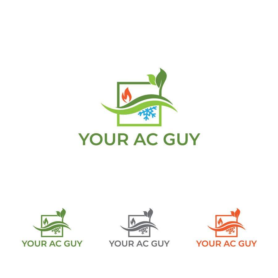 Bài tham dự cuộc thi #                                        76                                      cho                                         Air conditioner company logo (Your AC GUY)