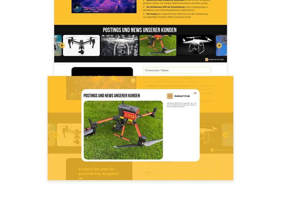 Konkurrenceindlæg #                                        3                                      for                                         Design a Overlay that displays social media posts + Design a Slider that displays thumbnails of these posts