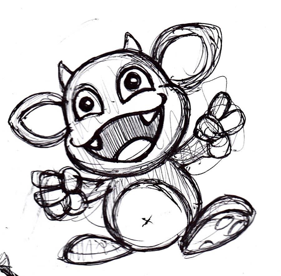 Inscrição nº 110 do Concurso para Design a Cartoon Monster for a Media Company