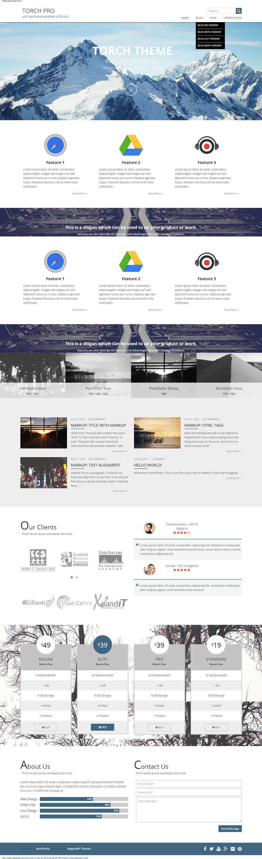 Konkurrenceindlæg #                                        6                                      for                                         Design a website Mockup for wordpress